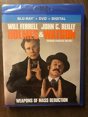 NEW Holmes & Watson Blu-Ray & DVD And Digital Copy Canada Bilingual SEALED