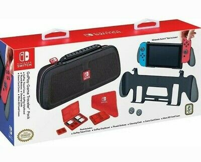 NEW! Nintendo Switch GoPlay Game Traveler Pack Traveler Case & GripStand & More