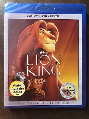 Lion King BluRay & DVD Canada Bilingual NO DC LOOK Signature Collection