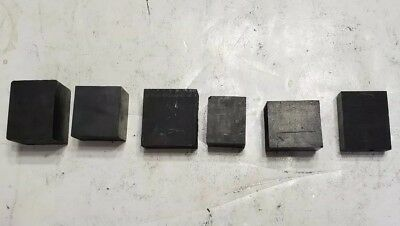 Lot of 6 Carbon Graphite Stock Remnants - EDM, Glass Blowing, Welding, Art A3
