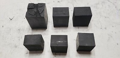 Lot of 6 Carbon Graphite Stock Remnants - EDM, Glass Blowing, Welding, Art A25