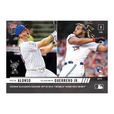 2019 Topps Now #492 Pete Alonso & Vladimir Guerrero Jr. Sqaure Off In Hr Derby