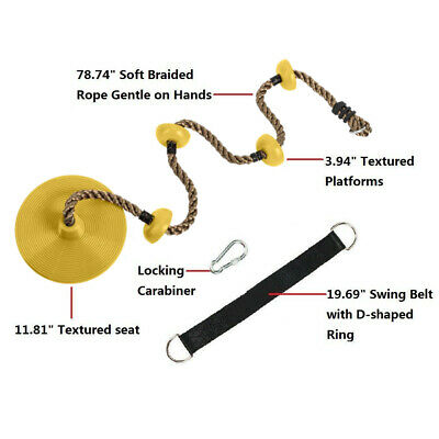 Toddler Swing Seat Baby High Back Full Bucket Swing Seat with Heavy Duty Chains