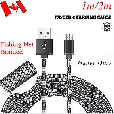 Braid Micro USB Data&Sync Charging Charger Cable For Android Cell Phone Cord