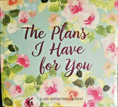 """The Plans I Have For You 2020 Wall Calendar 16 Month NEW SEALED 11"""" X 11"""" w"""