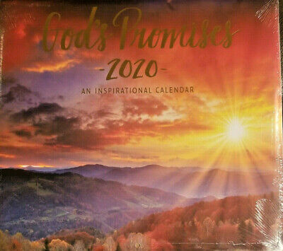 """God's Promises 2020 Wall Calendar 16 Month NEW SEALED 11"""" X 11"""" w"""