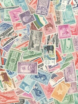 US POSTAGE STAMPS Vintage Collection 10 Stamps All Stamps Over 50 Years Old MNH