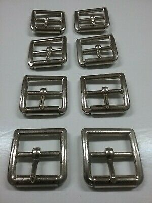 """8 x Stirrup leather roller buckles 1-1/8"""" (28mm)"""