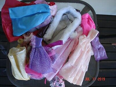 original barbie doll outfits bulk lot assortment gowns coats and accessories