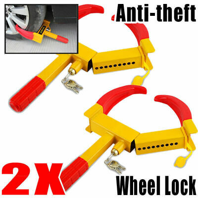 2PACK/Lot Car Truck Boat Anti-Theft Towing Wheel Lock Clamp
