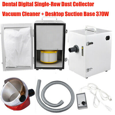 Dental Digital Single-Row Dust Collector Vacuum Cleaner Suction Base 370W