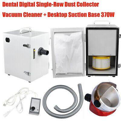 Dental Digital Single-Row Dust Collector Vacuum Cleaner Suction Base 370W Kit
