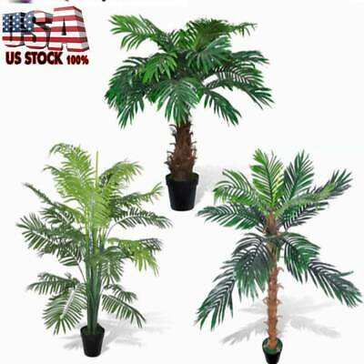 Vidaxl Artificial Plant Coconut Palm Fake Tree 55 Potted