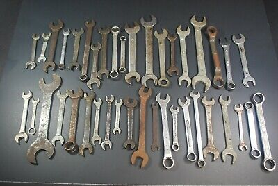 40 Wrenches - Antique Vtg Wrench Tool Lot Craftsman Sears Indestro Dunlap Bonney