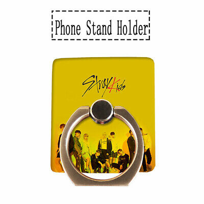 Kpop Straykids Phone Stand Holder Clé 2: Yellow Wood Adjustable Finger Ring Grip