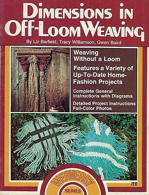 Dimensions in Off-Loom Weaving Wall Hanging & Basket Patterns Craft Book #7211