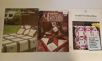 Lot of 3 Quilt Making Quilting Books Leaflets Patterns Instructions Lot #20