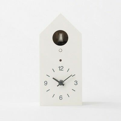 MUJI Mechanical Cuckoo Wall or Put Clock White Japan Light Sensor