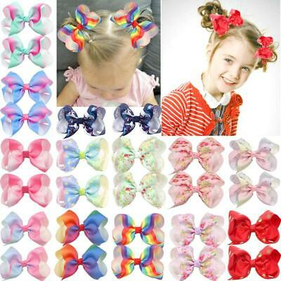 26Pcs Rainbow Hair Bows Alligator Clips Grosgrain Ribbon Bows Clips For Girls To