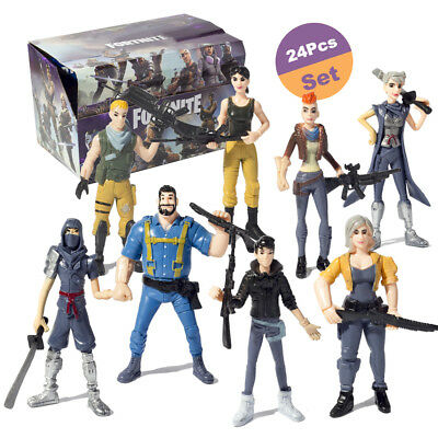 """24Pcs Fortnite 4.5"""" Action Figure Toy Model Kids Doll Gift Playset"""