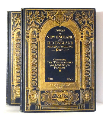 1921 NEW & OLD ENGLAND, IRELAND & SCOTLAND history genealogy ORNATE GILT SET hc
