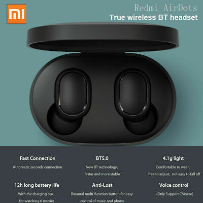 2019 Xiaomi Redmi Airdots Bluetooth 5.0 Headphone TWS Earbuds Wireless Earphones