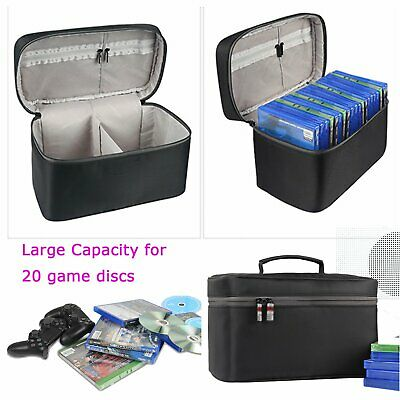 Large Capacity 20 Game Discs Storage Case Bag for PS4 PS4 PRO Xbox One Accessory