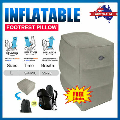 Inflatable Travel Office Footrest Pillow Plane Train Kids Bed Foot Rest Pad AU