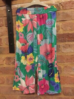 Next 2018 Floral Wide Leg Cropped 3/4 Length Trousers Worn Once 10 Years