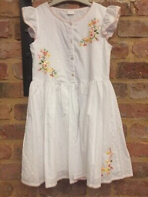 Next 2018 Beautiful White Embroidered Holiday Summer Dress 10 Years Worn Once