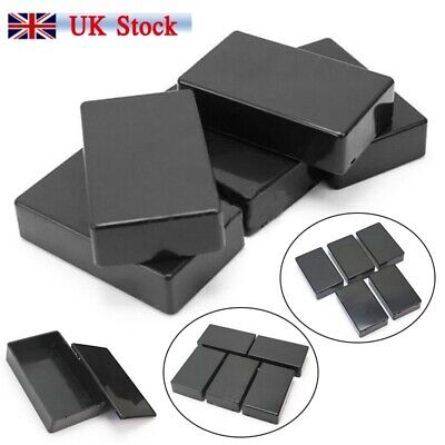 5 Pcs Black ABS Plastic Box for Electronics Hobby Projects Enclosure Case