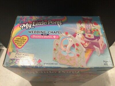 1998 My Little Pony G2 Hasbro Wedding Chapel Playset Dainty Dove Rare Vintage