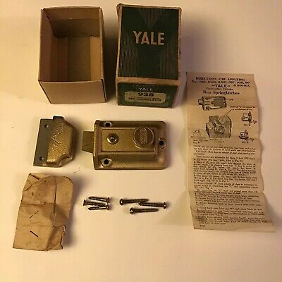Vintage Antique Yale 938 Pin-Tumbler Cylinder RIM SPRING LATCH LOCK