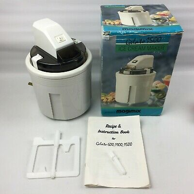 Vintage Magimix Gelato 1500 Ice Cream Maker, Boxed, Complete with manuals