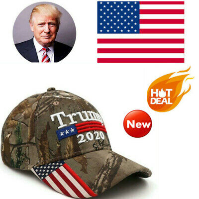 2019 Donald Trump 2020 Cap USA Flag Camouflage Baseball Make Great Hat Hot F2A4