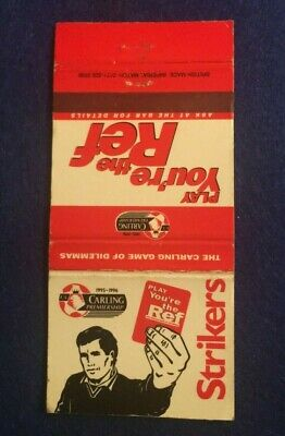 Vintage Matchbook Cover - Play Your The Ref Strikers    (Qq37)