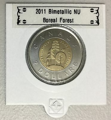 CANADA 2011 New 2 dollar TOONIES Boreal Forest (BU directly from mint roll)