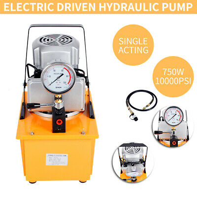70MPa Electric Driven Hydraulic Pump with Single Acting Manual Valve 220V