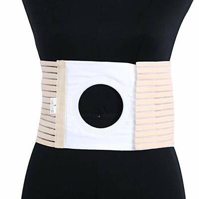 Ostomy Hernia Belt for Waist Abdominal with Breathable Stoma Opening (L)