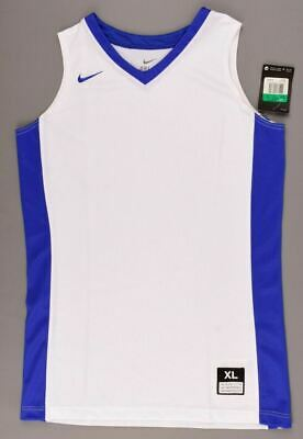 NIKE Girls' Basketball Top, Tank Top, Vest, DRI-FIT, White/Blue, size 13-15 y.