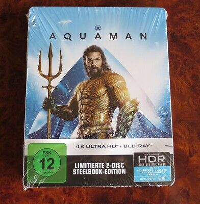 4K HD + Blu ray Steelbook   Aquaman   neu