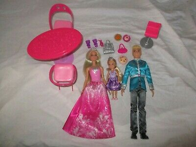 Royal Family Barbie Chelsea Ken Doll Tea Dinner Bundle