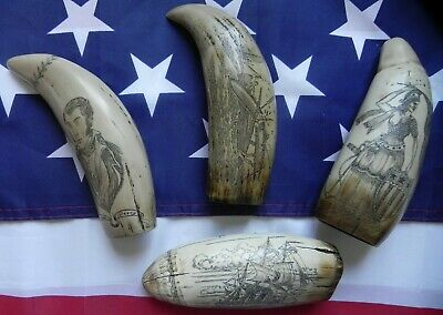Faux Scrimshaw 4 Items Freedom &The Bark Veronica &The Brandenberg &The Lawrence