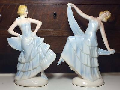 Sitzendorf Porcelain Art Deco Dancer Figurines Made in Germany