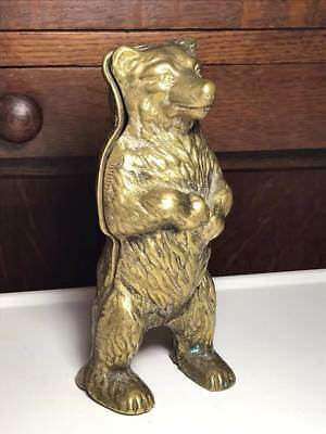 Vintage Brass Grizzly Bear Coin Bank