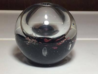 Pink and Black art glass oil candle