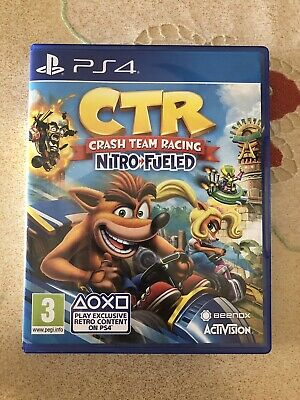 Playstation 4-CRASH TEAM RACING NITRO FUELED CTR PS4 COME NUOVO