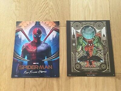 SPIDERMAN Poster Far From Home 2x Odeon Cinema Exclusive Glossy Set Bundle