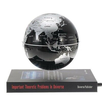 6 Inch Rotatable Magnetic Levitation Globe Floating Earth World Map Book Style