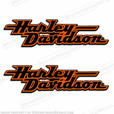 Harley-Davidson Fuel Tank Motorcycle Decals (Set of 2) - Style 2 - 11 inches